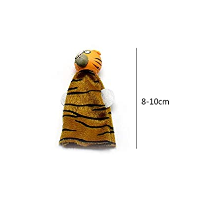 zhenleisier Cartoon Animal Finger Puppet Doll Early Indoor Family Game Interactive Development Educational Kids Toy Gift Puppet: Home & Kitchen