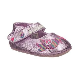 Skechers Crib New Born Baby Girl Shoes Bloom Peace & Love Pink Sneakers ...