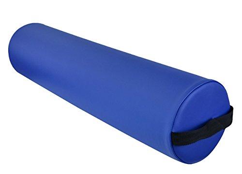- DevLon NorthWest Massage Full Round Bolster Pillow Spa Cushion Strap Handle Blue