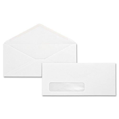 Business Source No. 10 Diagonal Seam Window Envelopes(Pack of 500)