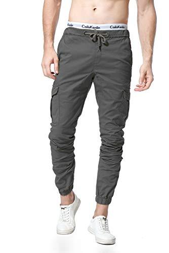 WESIDOM Men's Cargo Pants Jogger Jeans Combat Elasticated Waist Casual Trouser Outdoor Hiking Sweatpants