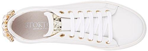 Stokton Basse da Bianco White Ginnastica Donna Sneaker Scarpe rOIEqwrA