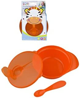 First Steps Travel Feeding Bowl Spoon Set Outdoor Weaning Self Feeding BPA Free