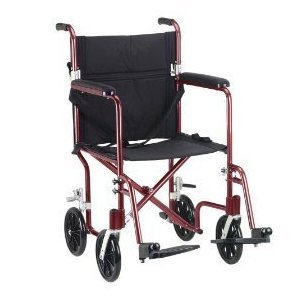 (Deluxe Fly-Weight Transport Wheelchair Seat Size: 17