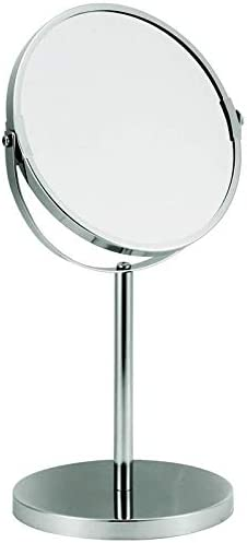 Rucci 5X Magnification and Normal View Classic Steamed Double Sided Vanity Mirror, Chrome