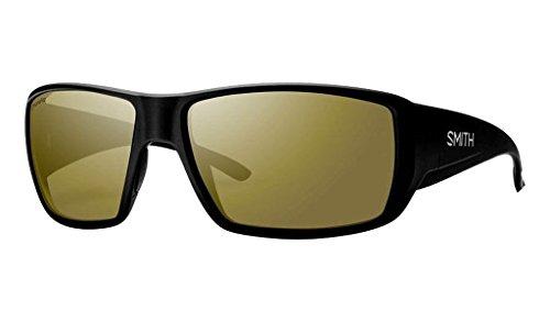Polarized Bronze Mirror - Smith Guides Choice ChromaPop+ Polarized Sunglasses, Matte Black, Bronze Mirror Lens