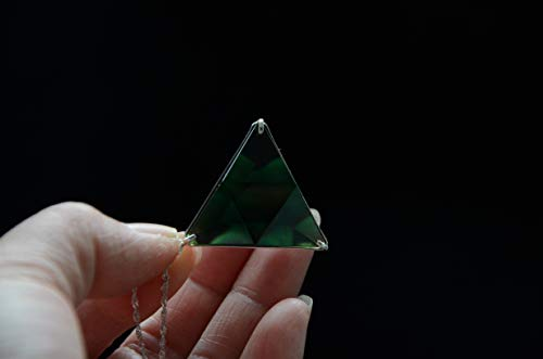 - Green Siberian Crystal Quartz Star of David Marcel Vogel Cut 1.22 Inch 925 Silver Sterling