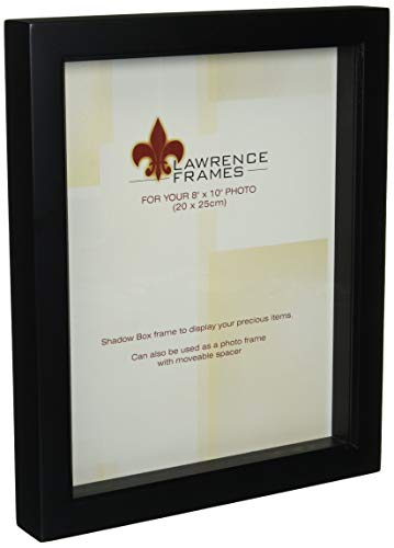 - Lawrence Frames 795080 Black Wood Treasure Box Shadow Box Picture Frame, 8 by 10-Inch