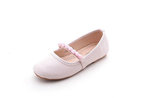 Mila Girls Casual Slip ON Ballerina Flat Shoes (Candy-1)pink11 - Pink Dress Shoes 1 Girls