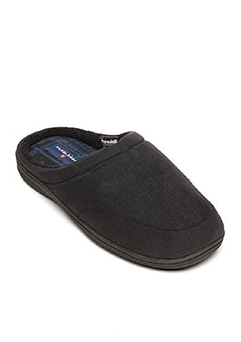 Toe Slippers On Fabric Saddlebred Slip Black Closed Mens gef qzxHRT