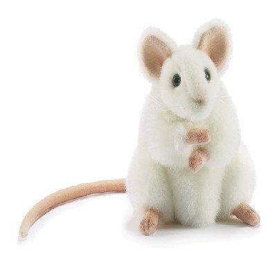 Hansa White German Mouse Plush Animal Toy, 6