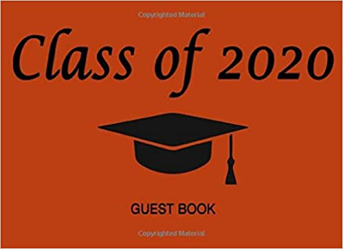 Orange Is The New Black New Season 2020.Class Of 2020 Guest Book Graduation Cap Tassel Black On