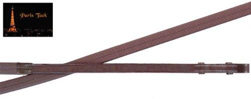 パリTackフラットゴム手綱の英語bridles-フルHorse   B008OY72QO