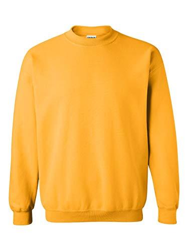 Gildan Men's Heavy Blend Crewneck Sweatshirt - Large - Gold