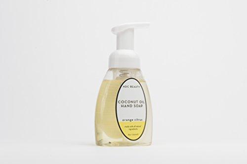 Coconut Oil Natural Foaming Hand Soap by Noix de Coco, Sulfate-Free Moisturizing Foam Hand Wash, 8 Ounce Pump Bottle (Citrus)