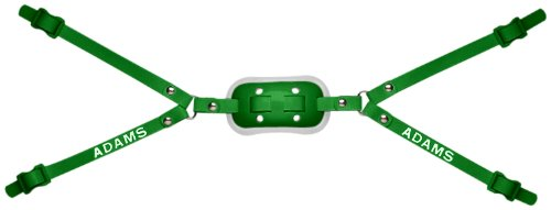ADAMS USA 25-4D 4-Point High Hook Up Football Gel Chinstrap, Kelly Green