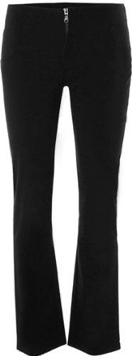 PaperMoon Women's Black Stretch Hipster Pants - Straight Leg Zip Up - Size US 6 (UK 10) Inside Leg 31''