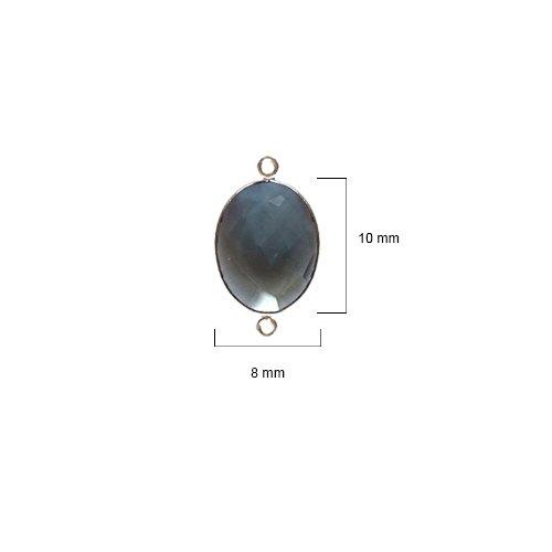 - 6 Pcs London Blue Topaz Oval 8X10mm by BESTINBEADS I London Blue Topaz Stone I 6 Pcs London Blue Topaz Oval Pendant I Oval Pendant Silver I Oval Bezel