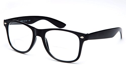 Newbee Fashion - Wayfarer Style Comfortable Stylish Simple Reading Glasses w/ Spring Temple +2.00 (2013 Fashion Spring New)