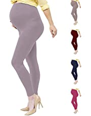 Viosi Maternity Leggings Over The Belly Soft Stretch Pregnancy Yoga Pants - 14 Colors - Petite to Plus