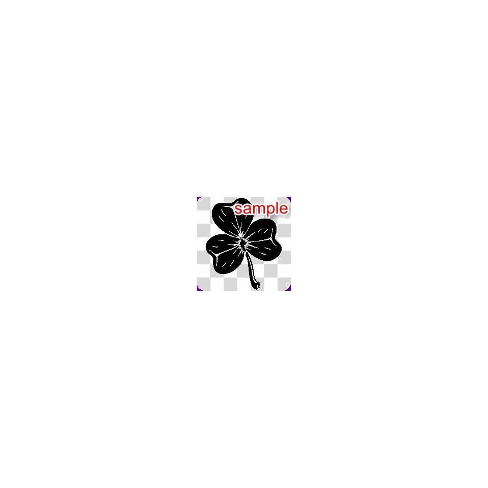 RANDOM THREE LEAF CLOVER 12 WHITE VINYL DECAL STICKER