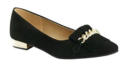 BOSCCOLO 4695-90-94-91 Ballerinas, Mokassins, Leather, Leder, Cuir Black
