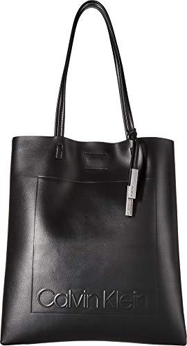 Calvin Klein womens Calvin Klein Nora Novelty North/South Magazine Tote, black, One Size