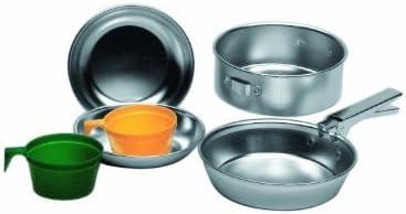 Aluminium Cooking Set 1 Pot 2 Plates 2 Cups Camping Hiking ...