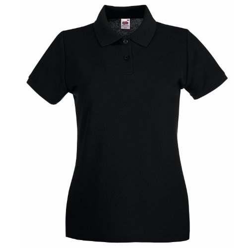 Fruit Of The Loom Lady-Fit Premium Polo Shirt L,Black