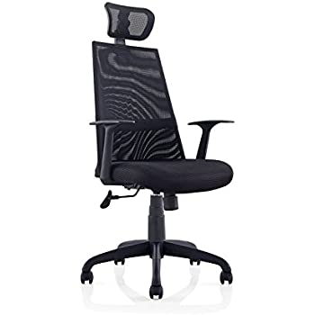 Lovely Ergomax Meshed Ergo Office Chair With Headrest (Black)