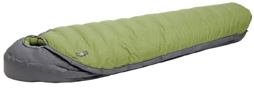 Exped WaterBloc 1200 Sleeping Bag, Green/Grey, Medium, Right, Outdoor Stuffs