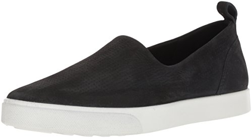 ECCO Women's Women's Gillian Casual Slip On Sneaker, Black, 39 M EU (8-8.5 US)