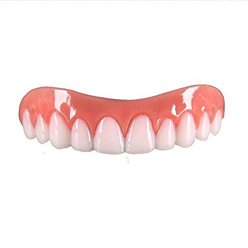 財団不安定見て上段ホワイトシリカゲルシミュレーション義歯プラスチックパーフェクトフィットスナップオンスマイル義歯歯セット
