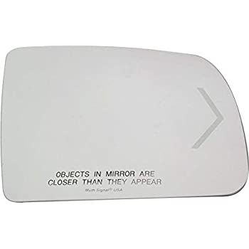 Fits 08-17 Sequoia 07-14 Tundra Right Pass Mirror Glass w//etched Signal Icon