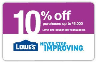 Lowe's 10 Percent off Promo Code [Email Delivery Only] ()