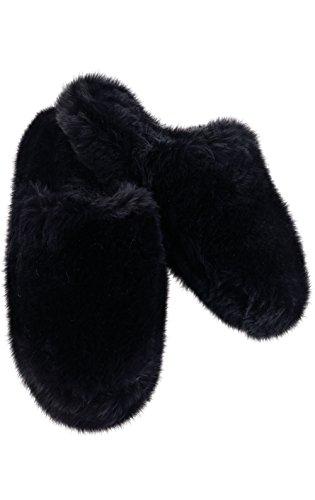 PajamaGram Women's Fuzzy Slippers Washable - Slip-On House S