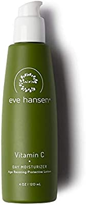 Eve Hansen Dermatologist Tested Vitamin C Moisturizer - Premium, Hypoallergenic, Fragrance Free Natural Face Moisturizer | Face Lotion to Improve Elasticity and Reduce Dark Spots and Fine Lines | 4 oz