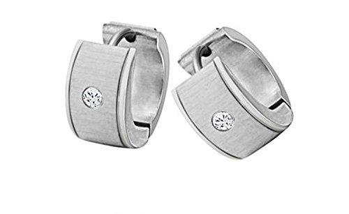 Fekkai Bijoux Fashion Boucles d'oreilles special incruste Brillant CZ Crystal Stone 316L titane acier lisse Ornements Stud anti-allergie nouveau design