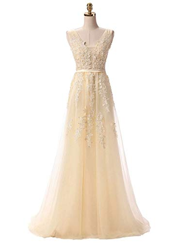 57d4114ccc05a Lily Wedding Womens Beaded Tulle Lace Appliques Prom Bridesmaid Dresses  2018 Long Formal Evening Ball Gowns
