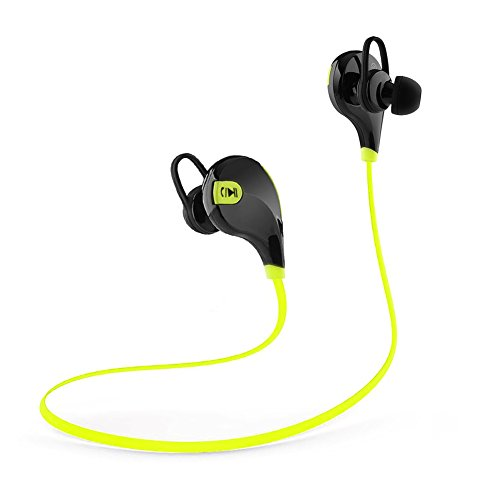 Bluetooth Headset Lanbailan Wireless Stereo Bluetooth Headphones Noise Cancelling Earbuds Headset Earphones with Microphone Hands-free Calling & Say Yes or No to Pick or Reject Call (Green1)