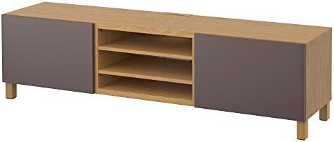 IKEA BESTA - Mueble TV con efectos cajones Roble / valviken marrón ...