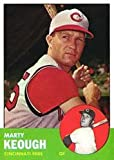 1963 Topps Regular (Baseball) Card# 21 marty keough of the Cincinnati Reds Ex Condition
