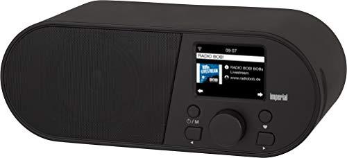 Imperial i105 internetradio (WLAN, mediaspeler, USB, DLNA, kleurendisplay, wekker, app-besturing) zwart