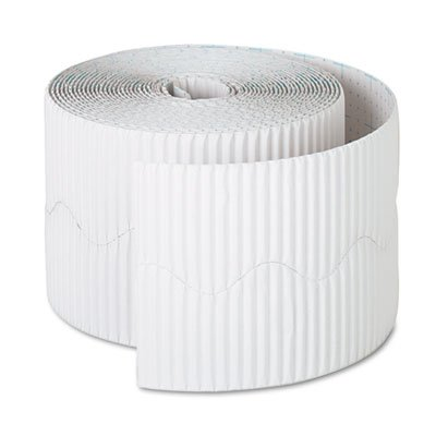 Pacon Products - Pacon - Bordette Decorative Border, 2 1/4 x 50 Roll, White - Sold As 1 Roll - Festive; ideal for bulletin and display boards. - Corrugated, scalloped design - Rich, fade-resistant colors.