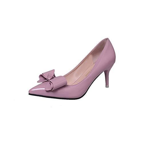 Primavera Las De Las Poco Puntiagudos De De Pink zapatos Alto Señoras alto Casuales Boca Talón Zapatos De Tacón Mujeres tacón Yukun De Femenina De Alto Alto Aguja de La Tacón PZwqwp0O