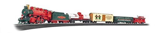 - Bachmann Trains - Jingle Bell Express Ready To Run Electric Train Set - HO Scale