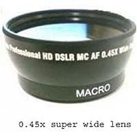 Wide Lens + Case for Sony DCR-DVD653E, Sony DCRDVD653E, Sony DCR-DVD653, Sony HDR-CX350, Sony HDR-CX350E