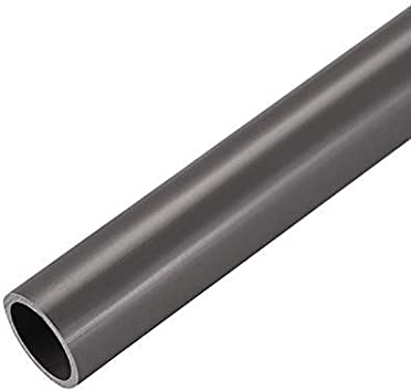 Tubo transparente redondo irrompible PVC 1M 30x32mm Tubo r/ígido de pl/ástico blanco