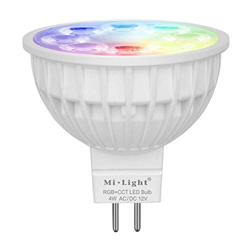 Mi-light Dimmable MR16 4W Led Bulb RGB+CCT LED Spotlight Smart Home Led Light Bulb Lamp Need Controlled by Mi Light wifi ibox/Remote For Sale