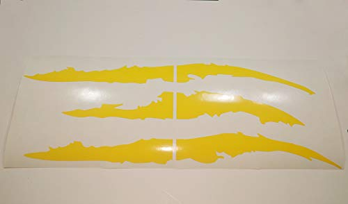 ViaVinyl Claw Marks Headlight Decal Available in Nine Colors!. Genuine Brand Vinyl Sticker/Decal for Sports Cars (Yellow)